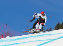 Skicross racer Wordcup in Switzerland Royalty Free Stock Photography