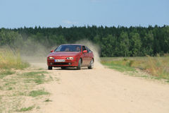 Skid. Car skid, powerslide, countryside, nissan Stock Photography