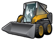 Skid loader royalty free illustration