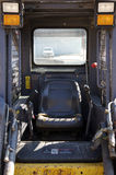 Skid Loader Cabin. Interior Shot of a Skid Loader Royalty Free Stock Image
