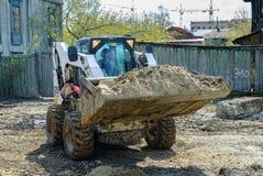 Free Skid Loader On Road Construction Stock Image - 77759351