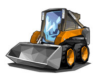 Skid loader. A small skid loader in polygonal style. Solid fill only, no gradients Stock Photography