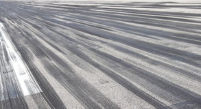 Skid marks on asphalt Stock Image