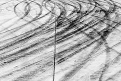 Skid marks on road surface Stock Photography