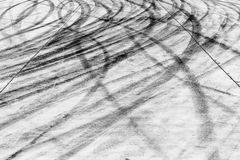 Skid marks on road surface Royalty Free Stock Photography