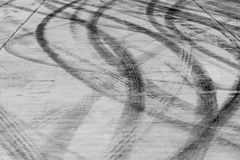Skid marks on road surface Stock Image