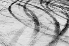 Skid marks. Tire Marks on road Royalty Free Stock Images