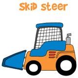 Skid steer cartoon vector art Stock Photography