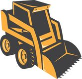 Skid Steer Digger Truck Retro Stock Photo