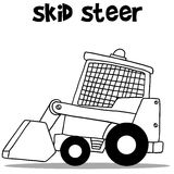 Skid steer for industry cartoon design Stock Photo
