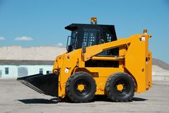 Skid steer loader construction Royalty Free Stock Image