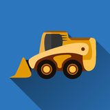 Skid-steer loader flat icon Stock Photos