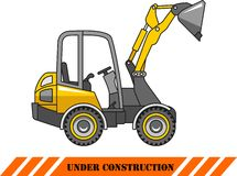 Skid steer loader. Heavy construction machine Royalty Free Stock Images