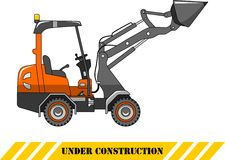 Skid steer loader. Heavy construction machine Stock Photos