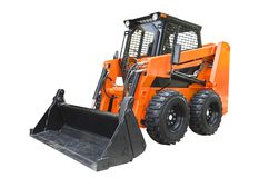 Skid steer loader. Isolated on a white background stock image
