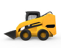 Skid Steer Loader. Isolated on white background. 3D render Royalty Free Stock Photography