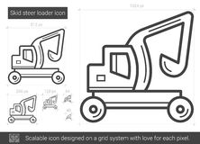 Skid steer loader line icon. Royalty Free Stock Photos