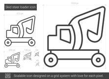 Skid steer loader line icon. Stock Image