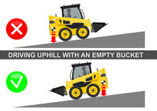 Skid steer loader safety Stock Photo
