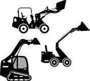 Skid steer loaders. Heavy construction machines Royalty Free Stock Images
