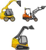 Skid steer loaders. Heavy construction machines Stock Photography