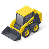 Skid steer mini loader icon Royalty Free Stock Images