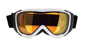 Skida, eller snowboarden rullar med ögonen royaltyfri fotografi