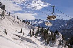 Skida i Dolomites, Italien Royaltyfri Bild