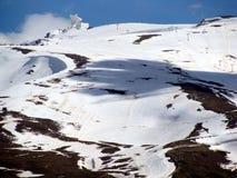 Skida & snöa Arkivbild