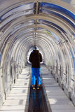 skida tunnel Arkivfoto