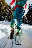 Skida turnera i vinter i Österrike Arkivfoto