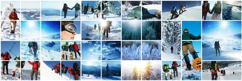skida vintern för snowsportspår Arkivbild
