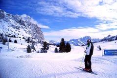 skida vintern för snowsportspår Arkivfoton