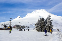 Skidar aktiviteter på Mt huv Royaltyfri Bild