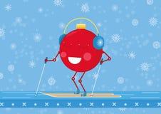 Skidar jul prydnad sombollen är praktiserande vektor illustrationer