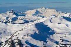 Skidar säsongen i Whistler British Columbia fotografering för bildbyråer