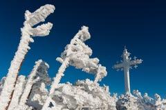 Skidar semesterorten Sheregesh, det Tashtagol området, den Kemerovo regionen, Ryssland Royaltyfria Foton