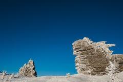 Skidar semesterorten Sheregesh, det Tashtagol området, den Kemerovo regionen, Ryssland Arkivbilder