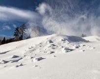 Skidar semesterorten Sun Valley Fotografering för Bildbyråer