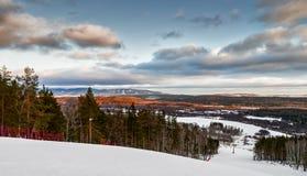Skidar semesterorten Sun Valley Royaltyfria Foton