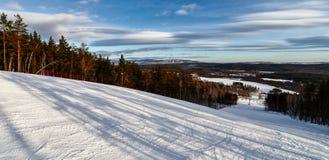 Skidar semesterorten Sun Valley Arkivfoto