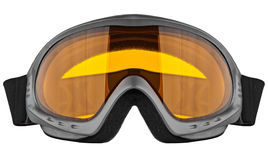 Skidar skyddsglasögon som isoleras på den vita bakgrunden Arkivfoton