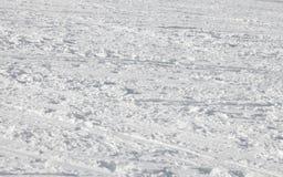 Skidar snöbakgrund Fotografering för Bildbyråer