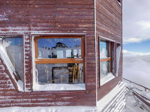 Skidar stationen Royaltyfri Foto