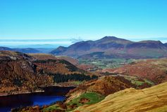 Skiddaw & Thirlmere in de Herfst Royalty-vrije Stock Foto