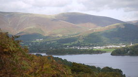 Skiddaw from Catbells, Cumria, UK. A view of the fells accross Derwent water as seen from Catbells in Cumbria UK Royalty Free Stock Photo