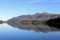 Skiddaw reflection in Derwentwater, Lake District. View from Barrow bay on the east side of Derwentwater looking towards Skiddaw (mountain) and it's reflection Stock Photo
