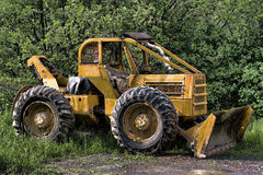 Skidder Rigged With A Snow Plow Royalty Free Stock Photos