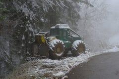 Skidder w śniegu Obraz Stock