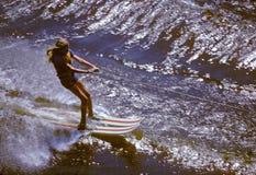 skidåkningvatten Arkivfoto
